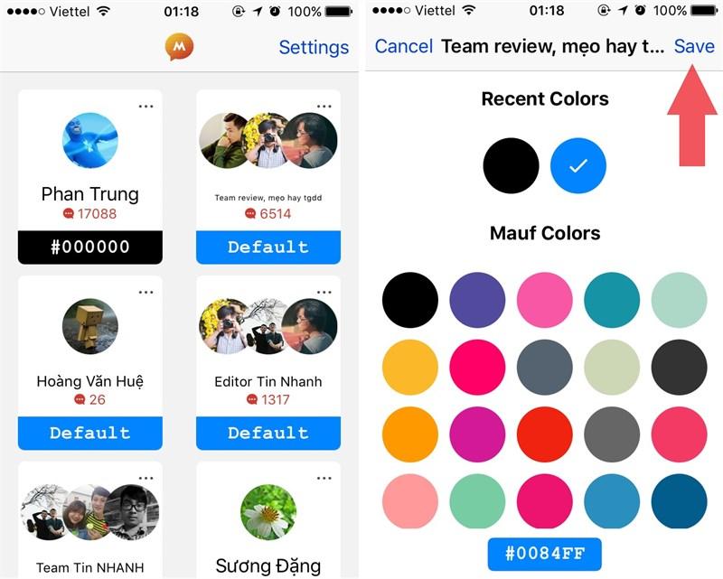 Facebook Messenger - Hướng dẫn đổi màu đen của facebook messenger trên iPhone mới nhất