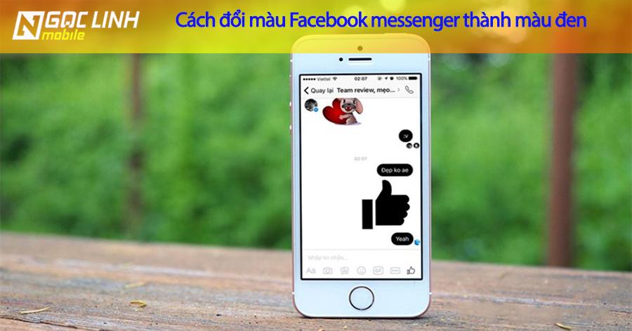 Hướng dẫn đổi màu đen của facebook messenger trên iPhone mới nhất Facebook Messenger - Hướng dẫn đổi màu đen của facebook messenger trên iPhone mới nhất