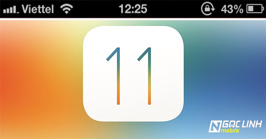 Tại sao cột sóng trên iOS 11 giống hệt cột sóng trên iOS 6 ?
