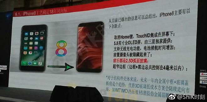 Hé lộ thêm thông tin về iPhone 8 tại một hội thảo ở Trung Quốc