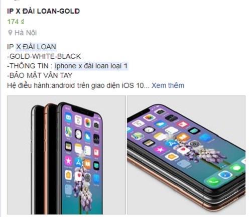 """iphone x - iPhone X """"nhái"""" từ Trung Quốc tràn vào Việt Nam"""