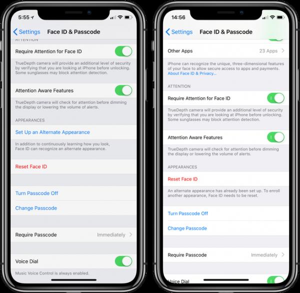 Face ID Face ID - Thiết lập nhiều khuôn mặt cho Face ID trên iOS 12.0.1