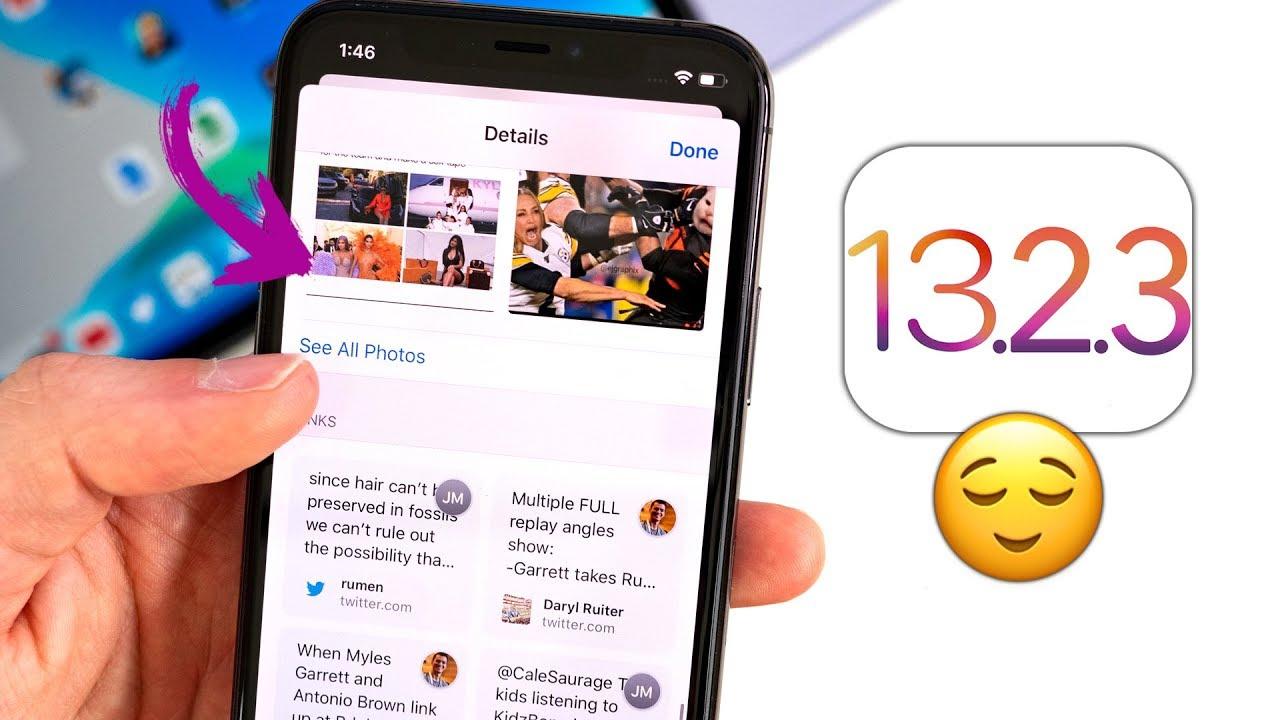 iOS 13.2.3 - Apple lại cung cấp thêm hệ điều hành iOS 13.2.3