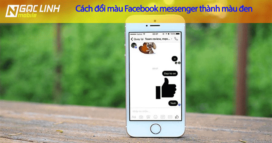 Hướng dẫn đổi màu đen của facebook messenger trên iPhone mới nhất