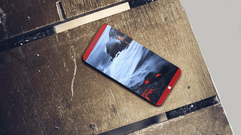 Bản concept mới nhất về iPhone 8 màu đỏ đẹp mắt